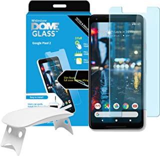 Dome Glass Google Pixel 2 Screen Protector Tempered Glass Shield, [Liquid Dispersion Tech] 2.5D Edge of Screen Coverage, Easy Install Kit and UV Light by Whitestone for Google Pixel 2 (2017)