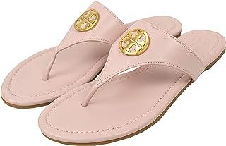 08093afe4995 Tory Burch Women s Leather Benton Flat Thong Sandals Seashell Pink