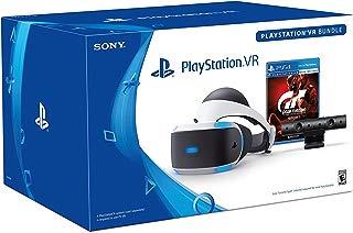Auriculares Sony Playstation VR compatibles con PlayStation 4 con pantalla VR avanzada, tecnología de audio 3D de 5,7 pulgadas, pantalla OLED 1080p HDMI, USB, personaliza tus propios accesorios de juego VR (auriculares/VR Bundle)