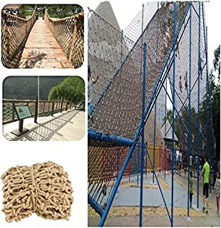 Decor Net Anti-fall Net ,Hemp Rope Net Child Safety Net Indoor Outdoor Hand-woven (Color : BEIGE-20CM, Size : 3X8M)