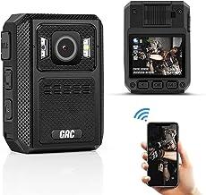 دوربین بدن پلیس GRC 1512P HD WiFi پلیس ، حافظه 128G ، دوربین با فرمت بدنه باتری 4000 میلی آمپر ساعتی ، دوربین بدنه ضد آب با ضبط صدا برای دید در شب GPS پوشیدنی برای اجرای قانون ، تراشه Ambarella H22
