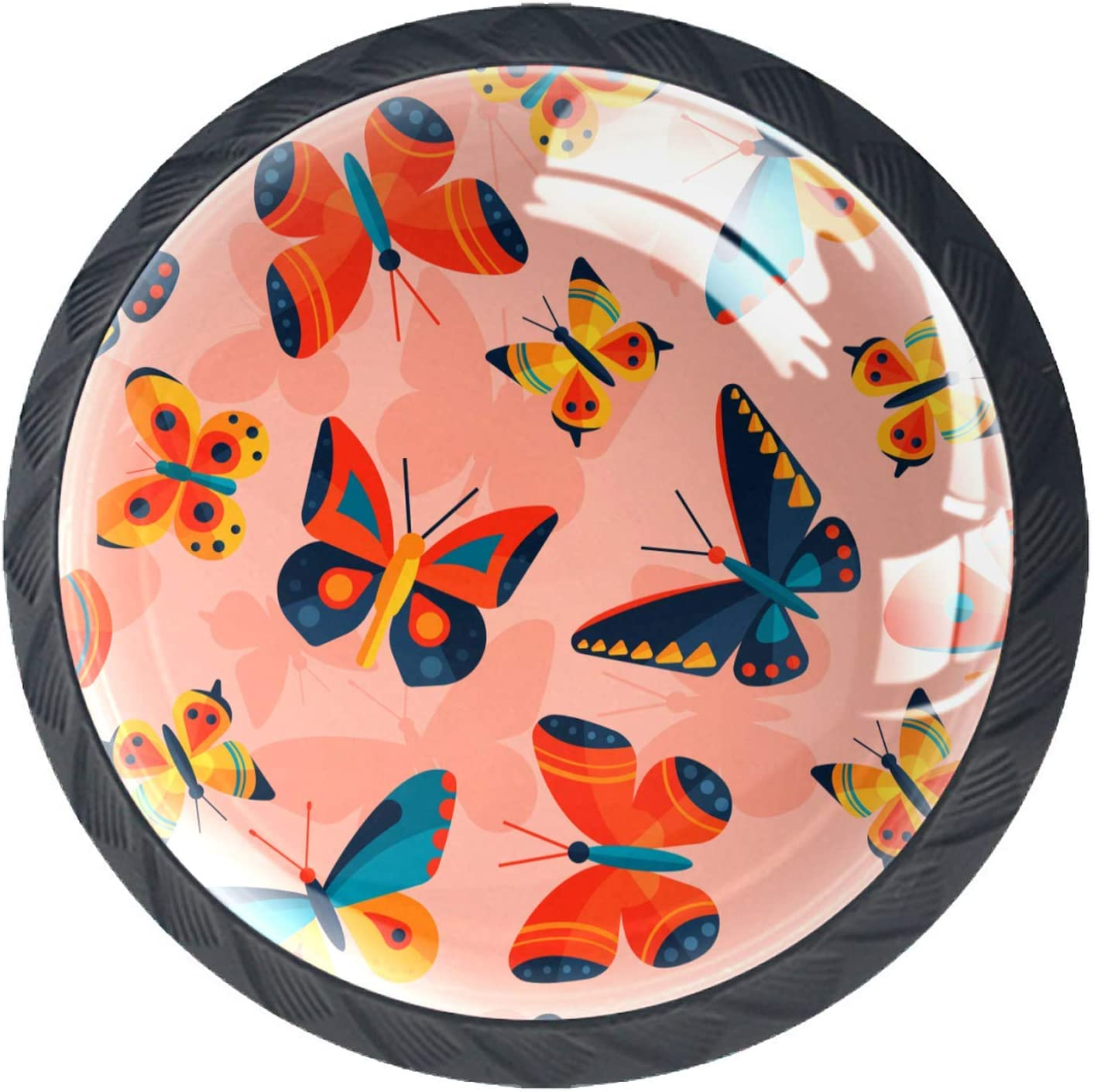 Door Knobs Watercolor Colorful Han Lovely Drawer latest Butterfly Max 83% OFF