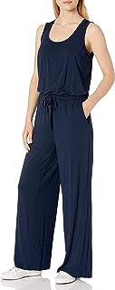 Amazon Essentials Women's Sleeveless Scoop-Neck Wide-Leg Jumpsuit