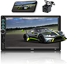 Double Din Car Stereo 7 Inch Touch Screen Car MP5 Player FM Radio Video Audio Compatible with Bluetooth Support Rear-View Camera Mirror Link iPhone & Android