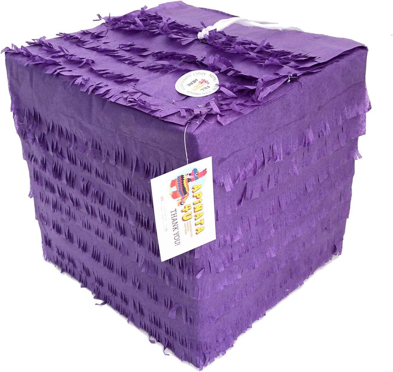 APINATA4U Purple Cube Superior Credence Pinata