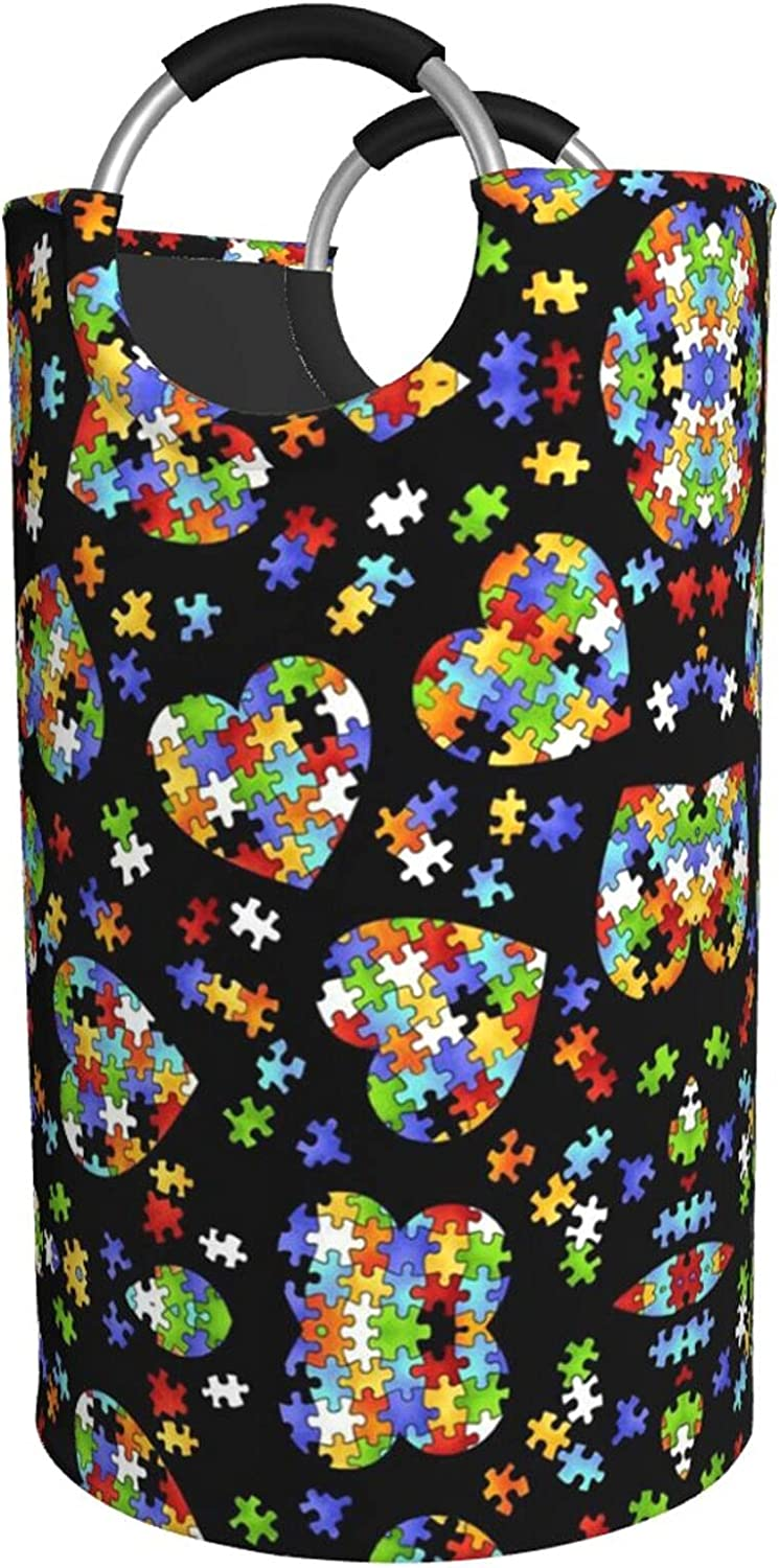 Autism Awareness Puzzle Milwaukee Mall 40% OFF Cheap Sale Pieces Heart Hamper Print Laundry Water