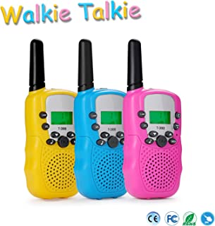 wdgguang Toys for 3-6 Year Old Boys Girls,4-5 Year Old Girl Boy Birthday Gifts,Walkie Talkies for Kids with 22 Channels 2 Way Radio(3 Pack)