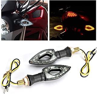 INNOGLOW Motorcycle Turn Signals Lights 12V Universal Motorbike Turn Signal Indicator Blinker Amber Light Lamp for Yamaha Honda Suzuki Kawasaki (2 PCS)