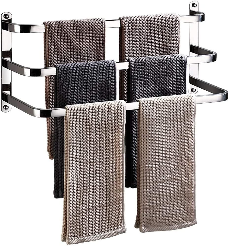 WMMING Towel Super Seasonal Wrap Introduction special price Rail - Three-Layer 304 Three-bar Stainles Bar