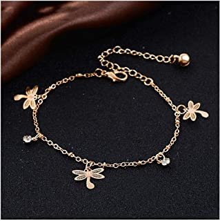 Trendy Dragonfly Anklet Bracelet On The Leg For Women Chain On Foot Girl Beach Ankle Bracelets Jewelry DY