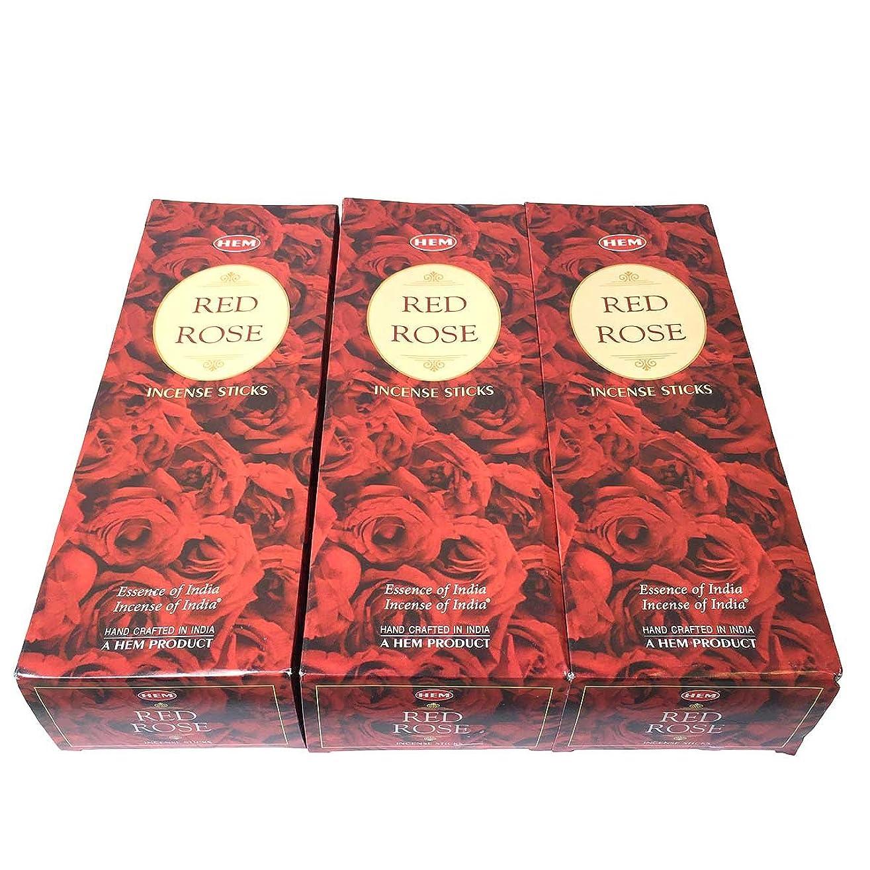 敷居気質コーチレッドローズ香スティック 3BOX(18箱) /HEM RED ROSE/インセンス/インド香 お香 [並行輸入品]
