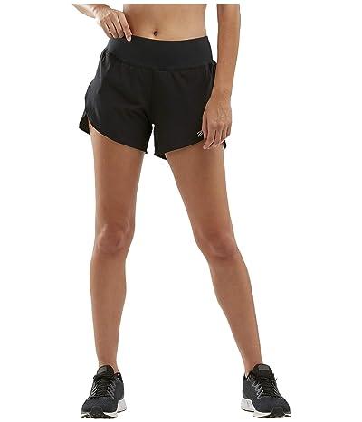 2XU XVENT 4 Shorts w/ Brief (Black/Silver Reflective) Women
