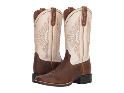 Ariat Round Up Rio (Distressed Brown/Lamb) Cowboy Boots