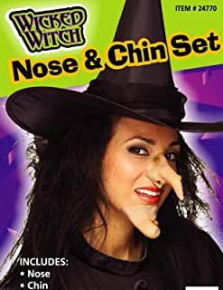 Forum Novelties 24770 Witch Nose and Chin Set