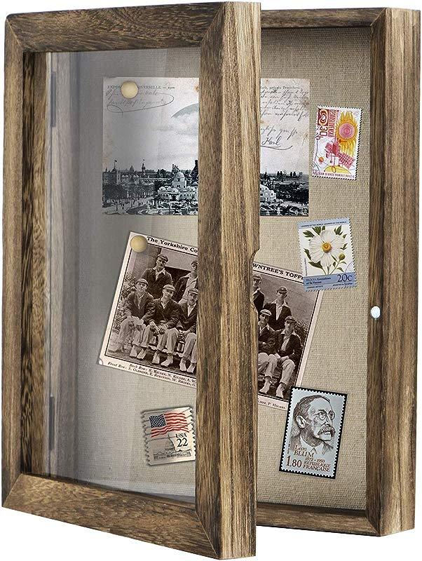 Love KANKEI Shadow Box Frame 8x10 Shadow Box Display Case With Linen Back Memorabilia Awards Medals Photos Memory Box