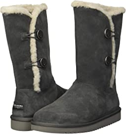 3a8ba2109a582 Ugg fabric mitten with fur trim