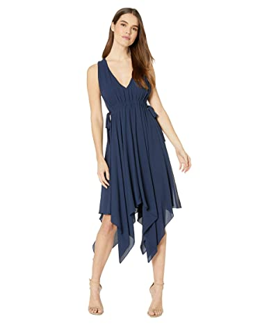 BCBGMAXAZRIA Day Midi Dress (Dark Navy) Women
