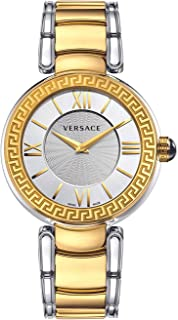 Versace Leda Silver Dial Ladies Two Tone Watch VNC220017