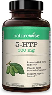 NatureWise 5-HTP 100mg | Natural Mood & Sleep Support | Curbs Appetite to Support Weight Loss | Enhanced with Vitamin B6 |...