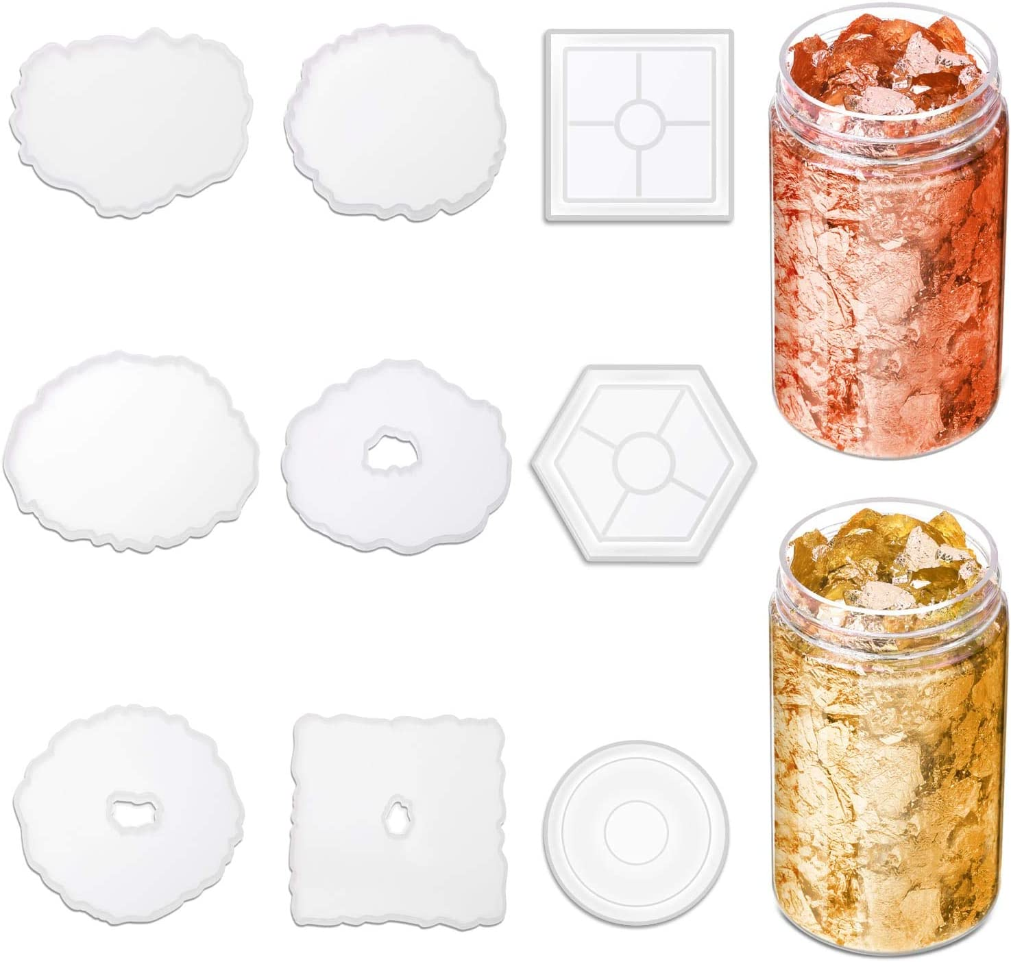 Resin Coaster Molds 67% OFF of Ranking TOP18 fixed price for 9 Anezus Pack Casting