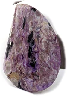 The Best Jewellery Charoite cabochon, 30Ct Natural Gemstone, Fancy Shape Cabochon For Jewelry Making (32x20x6mm) SKU-15003