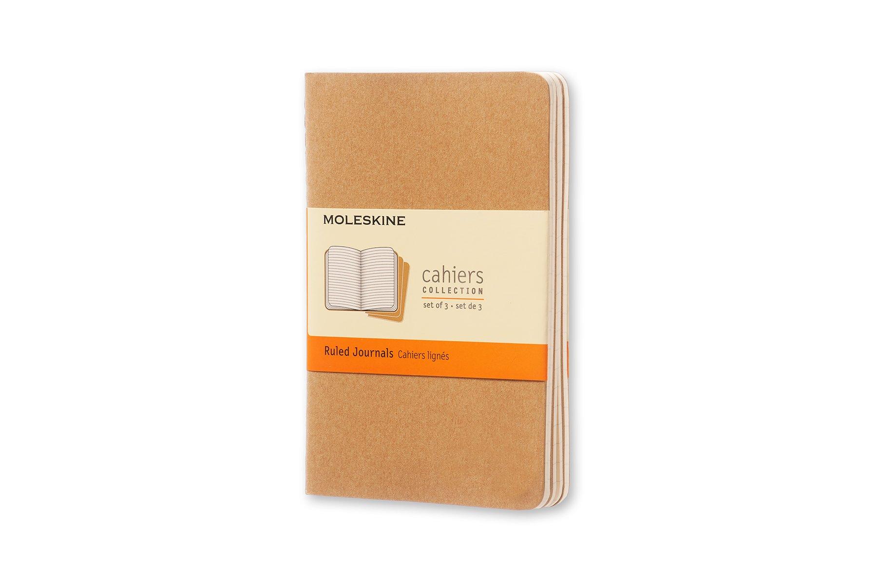 Moleskine - Cahier Journal Cuaderno de Notas, Set de 3 Cuadernos ...