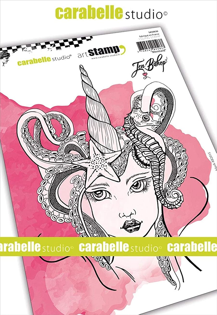 Carabelle Studio Cling Stamp A5 By Jen Bishop-Mermaid