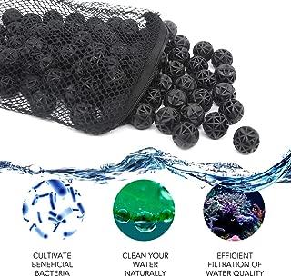 Lefunpets Aquarium Filter, Bio Balls Filter Media, 100PCS Bio Balls Perfect for Aquarium and Pond Filter Media