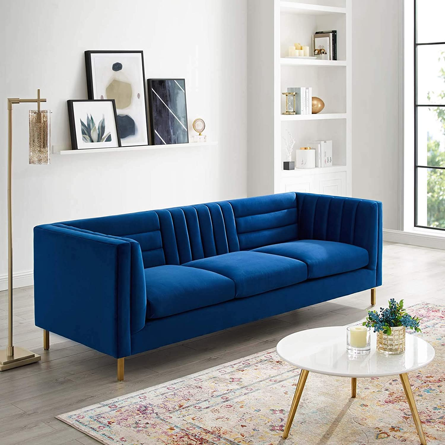 Modway Ingenuity Channel Tufted Large-scale sale Performance with Velvet Gol Challenge the lowest price of Japan ☆ Sofa