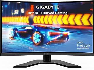GIGABYTE G32QC 32インチ 165Hz 1440P カーブ ゲームモニター 2560 x 1440 VA 1500R ディスプレイ 1ms (MPRT) レスポンスタイム 94% DCI-P3 VESA ディスプレイ HDR400...