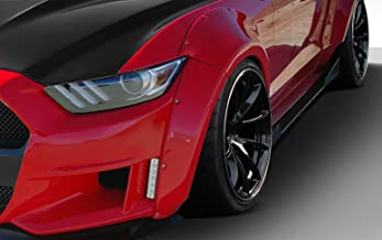 Brightt Duraflex ED-NPX-137 Grid Wide Body Front Fender Flares - 4 Piece Body Kit - Compatible With Mustang 2015-2017