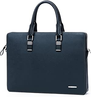 Qiaoxianpo01 Briefcase Color : Blue Black and Blue Size: 37830cm Wear Resistant New Portable Mens Business Tote