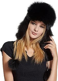Women's Fur Trapper Hat with Sheepskin Earflap Bomber Hat Men's Winter Fur Hat