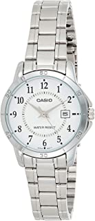 Casio Womens Quartz Watch, Analog Display and Stainless Steel Strap LTP-V004D-7BUDF