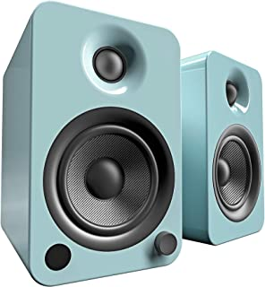 Kanto YU4 Powered Speakers with Bluetooth and Phono Preamp, Gloss Teal
