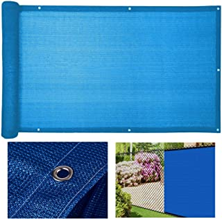 LSXIAO Privacy Screen With Stainless Steel Eyelet Waterproof Polyethylene 160GSM Deck Backyard Protective Screen, 33 Sizes...