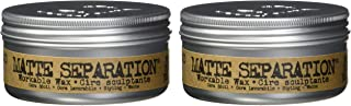 Bed Head Men Matte Separation Workable Wax by TIGI- 3oz (2pk)
