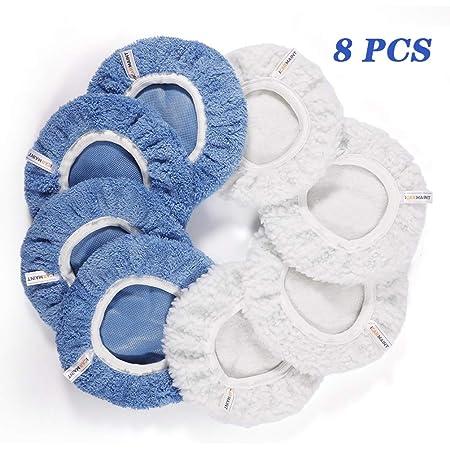 6pcs Polishing Bonnet Buffer Pads Soft Wool Fit For 5-6 inch Car Polisher
