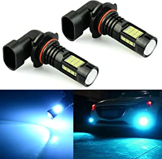 JDM ASTAR 2400 Lumens Extremely Bright PX Chips H10 9145 9140 LED Fog Light Bulbs for DRL or Fog Lights, Ice Blue