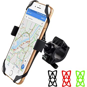 Cell Phone Holder for Bicycle, Phone Holder for Bike Handlebars Phone Mount Motorcycle Holder Scooter Accessories Bike Mount for Any Phone