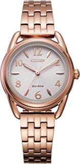 Citizen Women's Drive Quartz Stainless Steel Strap, Pink, 14 Casual Watch (Model: FE1213-50A)