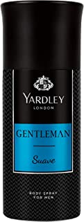 Yardley Gentleman Suave Body Spray, For Chivalrous man, Fragrance with Aromatic-Woody-Spicy notes, 150 ml