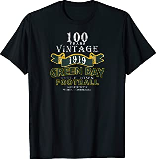 Green Bay 100 Year Anniversary Vintage Football 100 Years T-Shirt