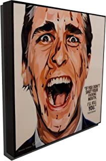 Patrick Bateman American Psycho Poster POP Art Print Canvas Quotes Wall Decals Framed Fan Artwork
