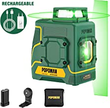 Kaiweets Professionnel Laser Niveau Automatique Avec 2 batteries rechargeables, Support magn/étique et sac de transport USB Charge /Niveau Laser Vert 3 x 360 Autonivellement et Mode Puls/é Ext/érieur