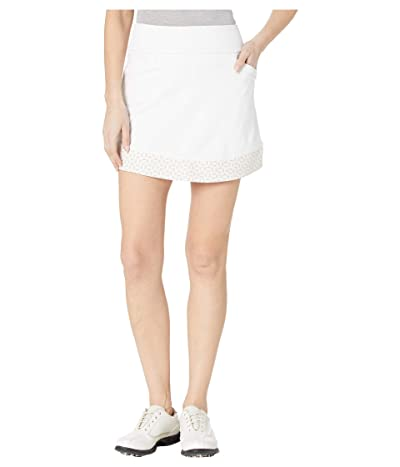 adidas Golf Ultimate365 Printed Knit Skort (White) Women