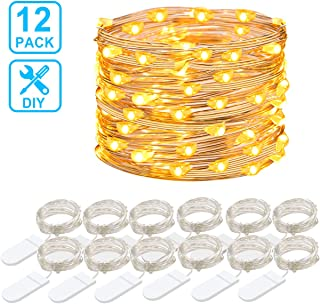 Govee 12 Packs Fairy String Lights, 3.3FT 20 LEDs Battery Operated Jar Lights Bedroom Patio Wedding Party Christmas (Warm White)