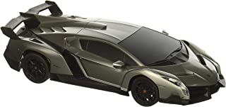 RW 1/24 Scale Lamborghini Veneno Car Radio Remote Control Sport Racing Car RC,Silver