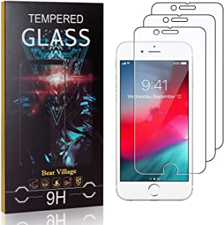 Verre Trempé pour iPhone SE 2020 / iPhone SE 2nd Generation, Bear Village Anti Rayures Protection en Verre Trempé Écran po...