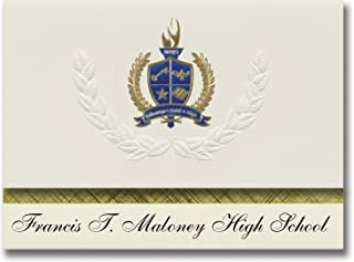 Signature Announcements Francis T. Maloney High School (Meriden, CT) Graduation Announcements, Presidential style, Basic p...
